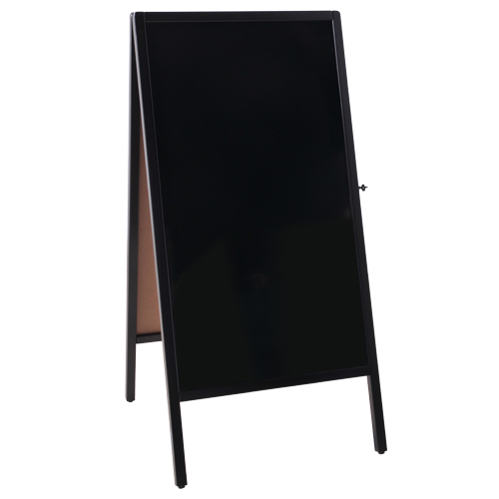 A型ブラックボード マーカーボード W520×D630×H1090mm メニューボード 案内版 オフィス家具