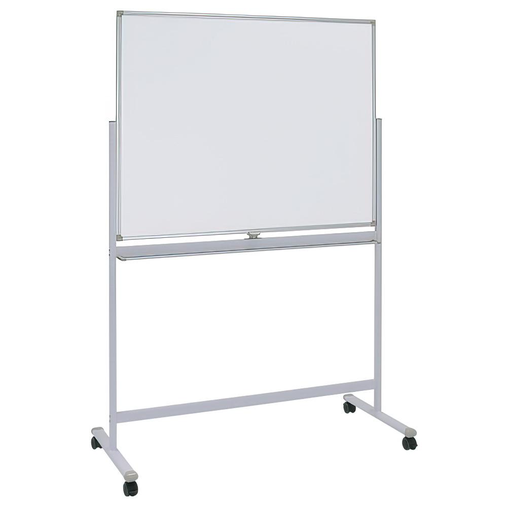 両面脚付きホワイトボード 両面無地 W1200×H900mm 白板 ホワイトボード 脚付 両面 無地 マーカー付き オフィス家具