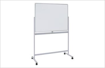 片面脚付きホーロー板面ホワイトボード(無地)(W1200×H905)