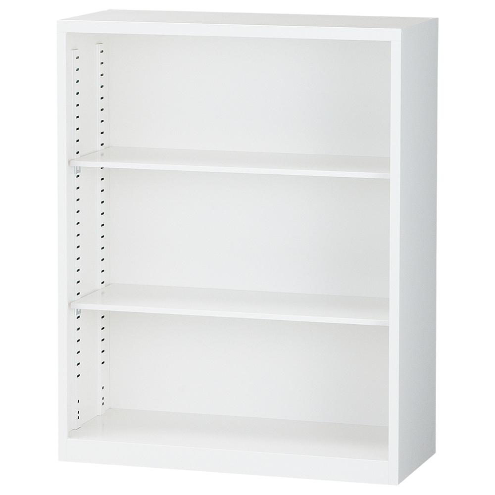 オフィス用オープン書庫 ALZシリーズ W880 D380 H1110  ホワイト