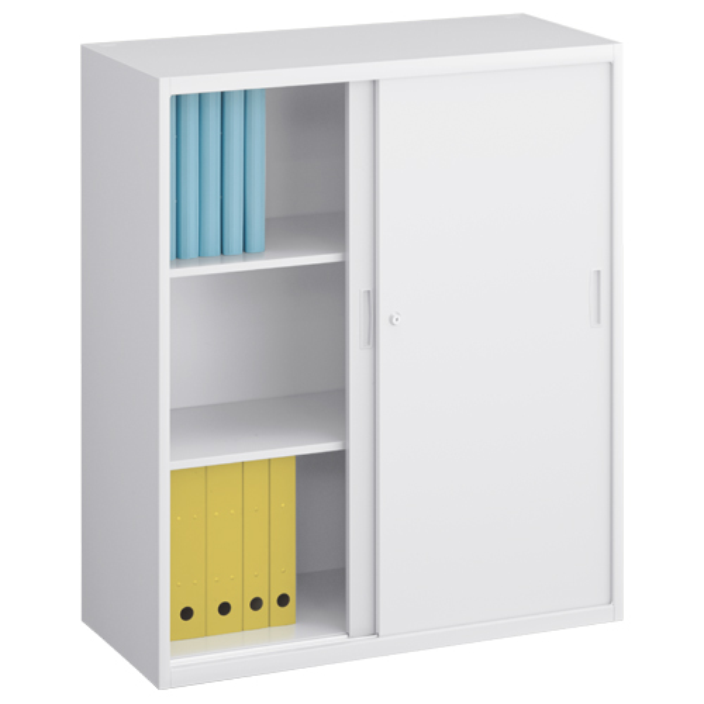 スチール引違い書庫 W900×D400×H1050mm スチール書庫 書棚 オフィス収納 キャビネット オフィス家具