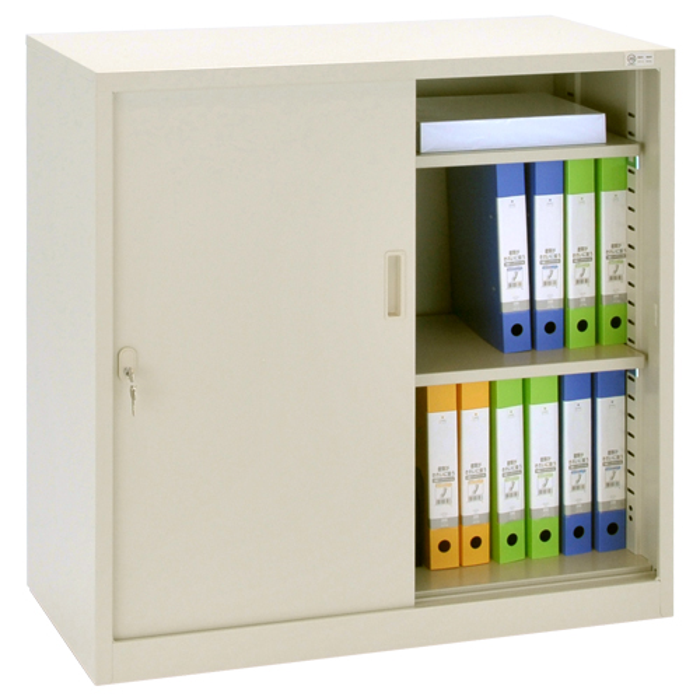 オフィス用スチール33タイプ 引違い書庫 W880 D400 H880  ニューグレー