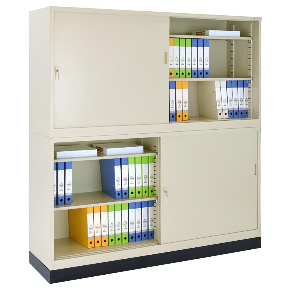 スチール63引違い×スチール63引違い書庫セット W1760×D400×H1850mm スチール書庫 書棚 オフィス収納 キャビネット オフィス家具