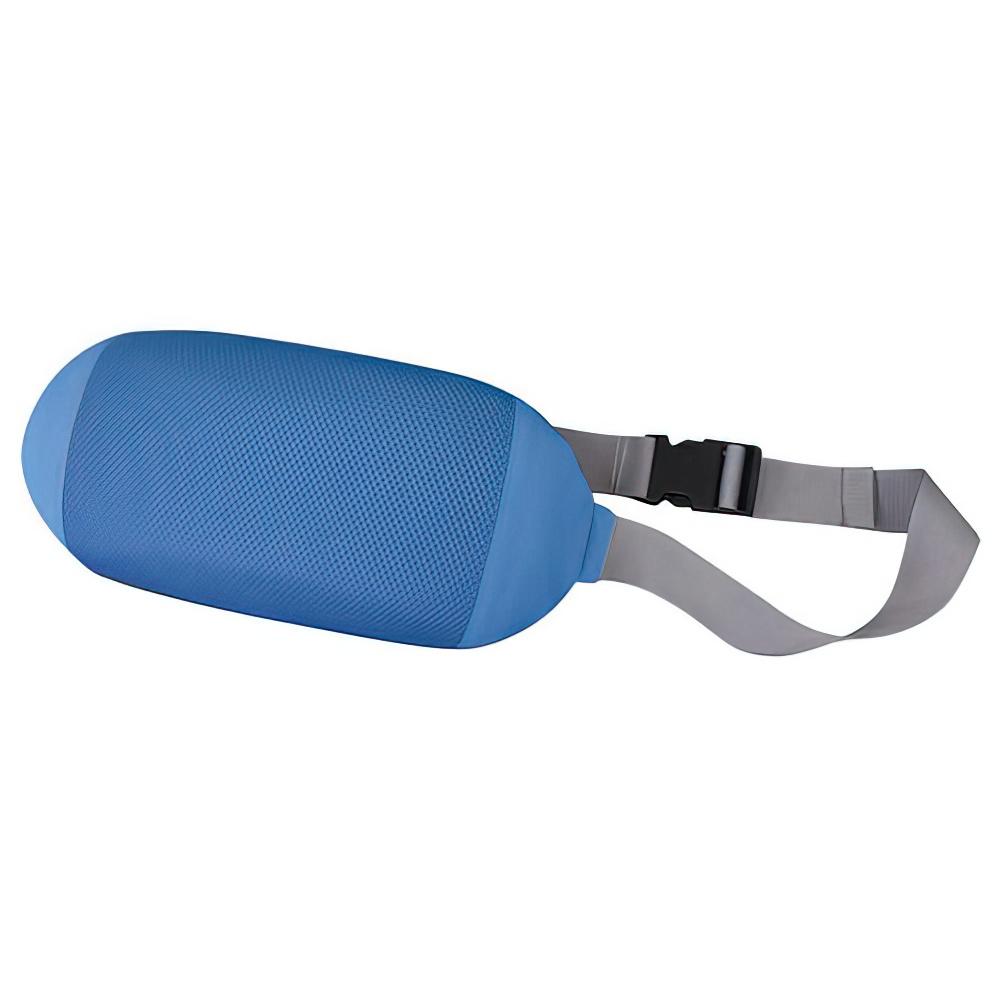 チェアクッションA W330×D65×H170mm ブルー チェアアクセサリー チェア周辺備品 メッシュ素材 固定ベルト付き 疲労緩和 オフィス家具