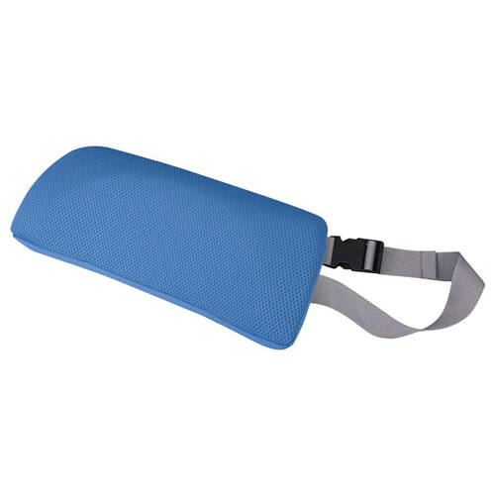 チェアクッションB W340×D75×H150mm ブルー チェアアクセサリー チェア周辺備品 メッシュ素材 固定ベルト付き 疲労緩和 オフィス家具