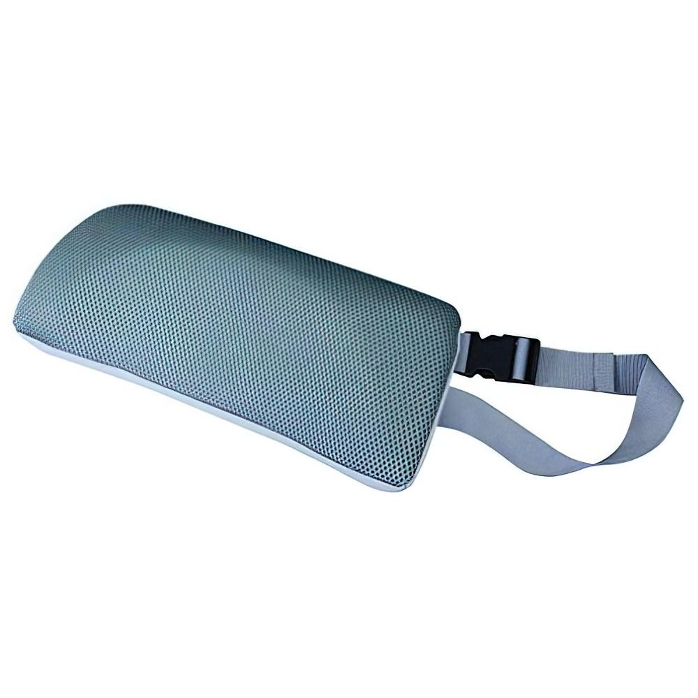 チェアクッションB W340×D75×H150mm グレー チェアアクセサリー チェア周辺備品 メッシュ素材 固定ベルト付き 疲労緩和 オフィス家具