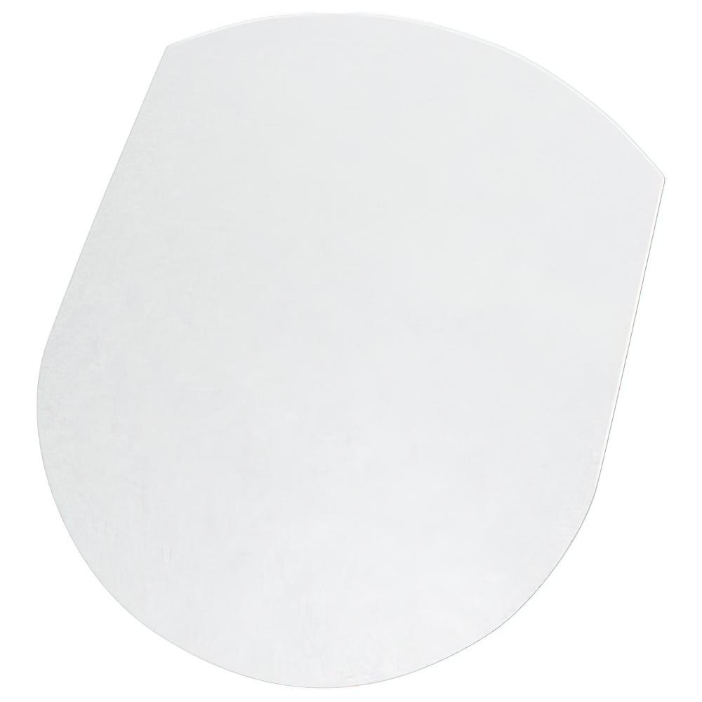カーペット用チェアマット W990×D1250×H6mm チェアアクセサリー チェア周辺備品 透明 PVC製 ヨーロピアンデザイン オフィス家具