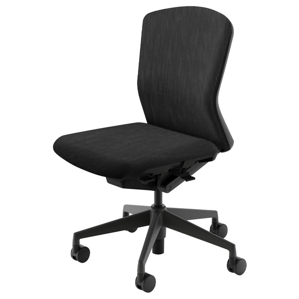 オフィス用エルフィチェア 樹脂バックタイプ Aller Clean + W647 D557-607 H890-980 ※1 ブラック チェア ビジネスチェア クロス