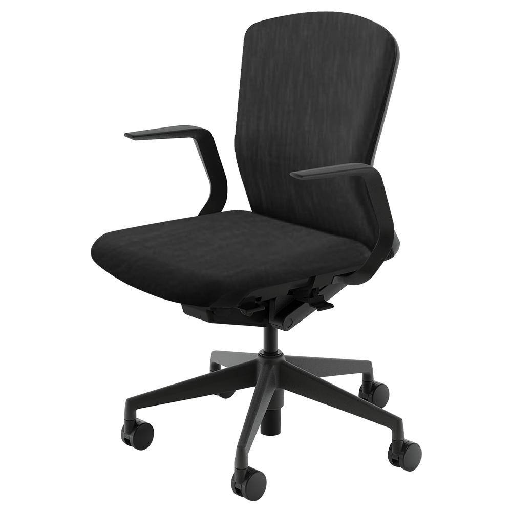 オフィス用エルフィチェア 樹脂バックタイプ Aller Clean + W647 D557-607 H890-980 ※1 ブラック