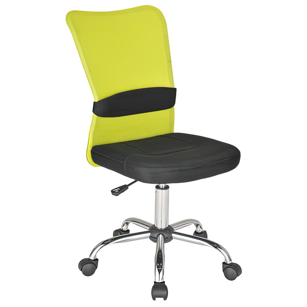 エアロメッシュ W420×D520×H910-1010mm オフィスチェア 事務椅子 肘無し グリーン デスクチェア OAチェア メッシュチェア オフィス家具
