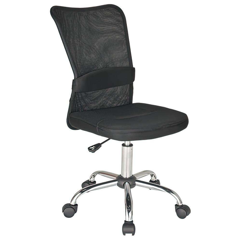 エアロメッシュ W420×D520×H910-1010mm オフィスチェア 事務椅子 肘無し ブラック デスクチェア OAチェア メッシュチェア オフィス家具