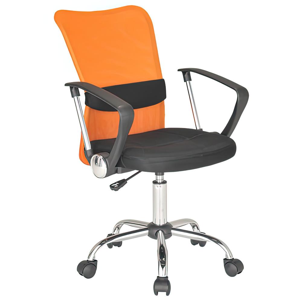 エアロメッシュ W530×D520×H910-1010mm オフィスチェア 事務椅子 肘付き オレンジ デスクチェア OAチェア メッシュチェア オフィス家具