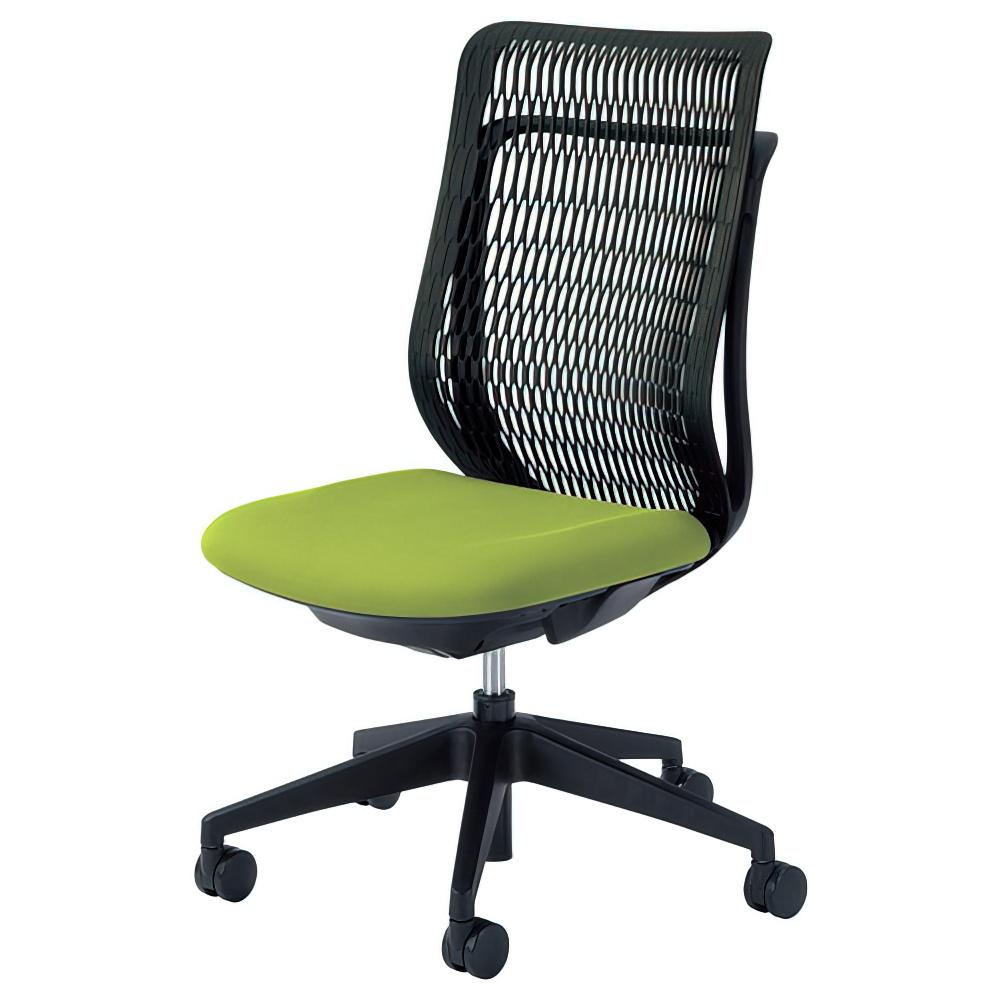 エージェイチェア W670×D605×H965-1065mm オフィスチェア 事務椅子 肘無し グリーン デスクチェア OAチェア 内田洋行 オフィス家具