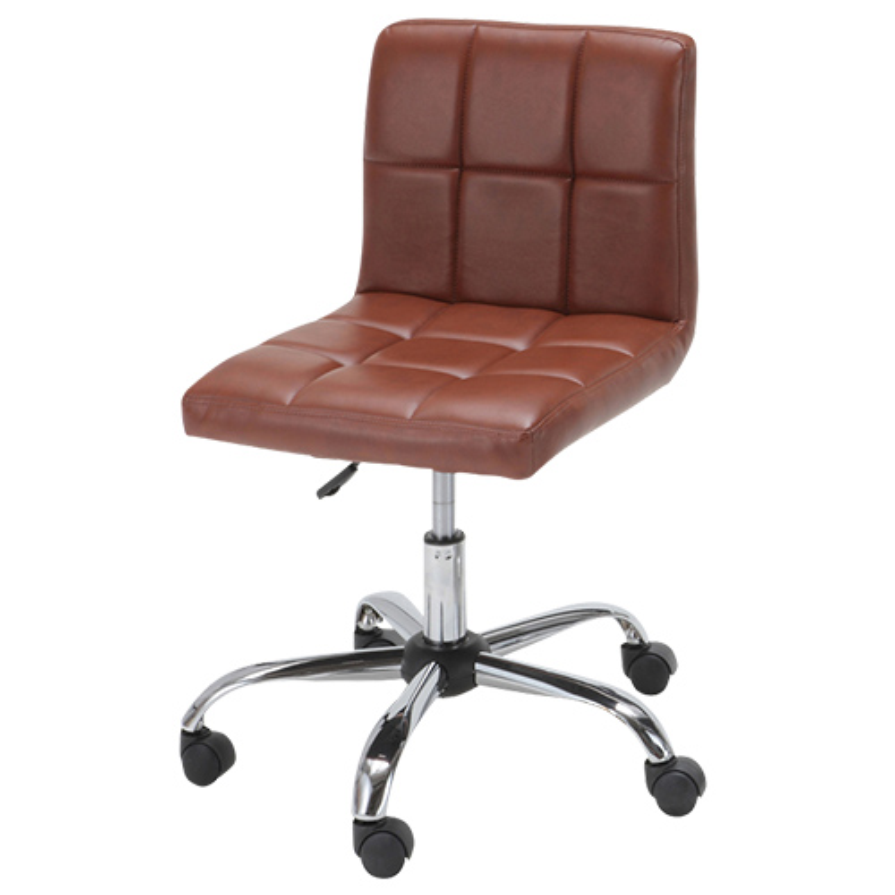 ショコラ W580×D580×H720-810mm ブラウン デスクチェア 事務椅子 オフィスチェア OAチェア キルティングチェア オフィス家具