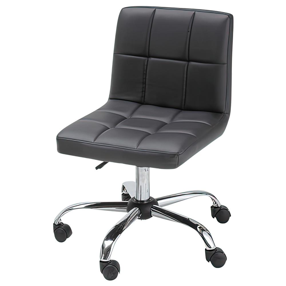 ショコラ W580×D580×H720-810mm ブラック デスクチェア 事務椅子 オフィスチェア OAチェア キルティングチェア オフィス家具
