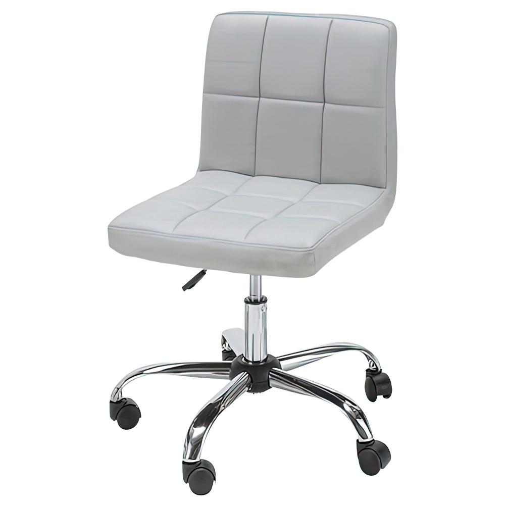ショコラ W580×D580×H720-810mm グレー デスクチェア 事務椅子 オフィスチェア OAチェア キルティングチェア オフィス家具