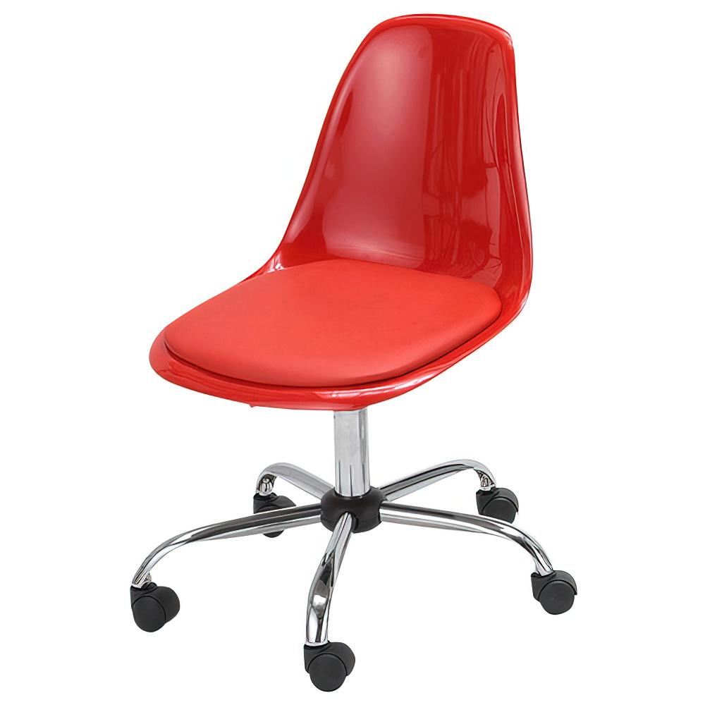 ブリッツ W580×D590×H785-875mm レッド デスクチェア 事務椅子 オフィスチェア OAチェア ミーティングチェア オフィス家具