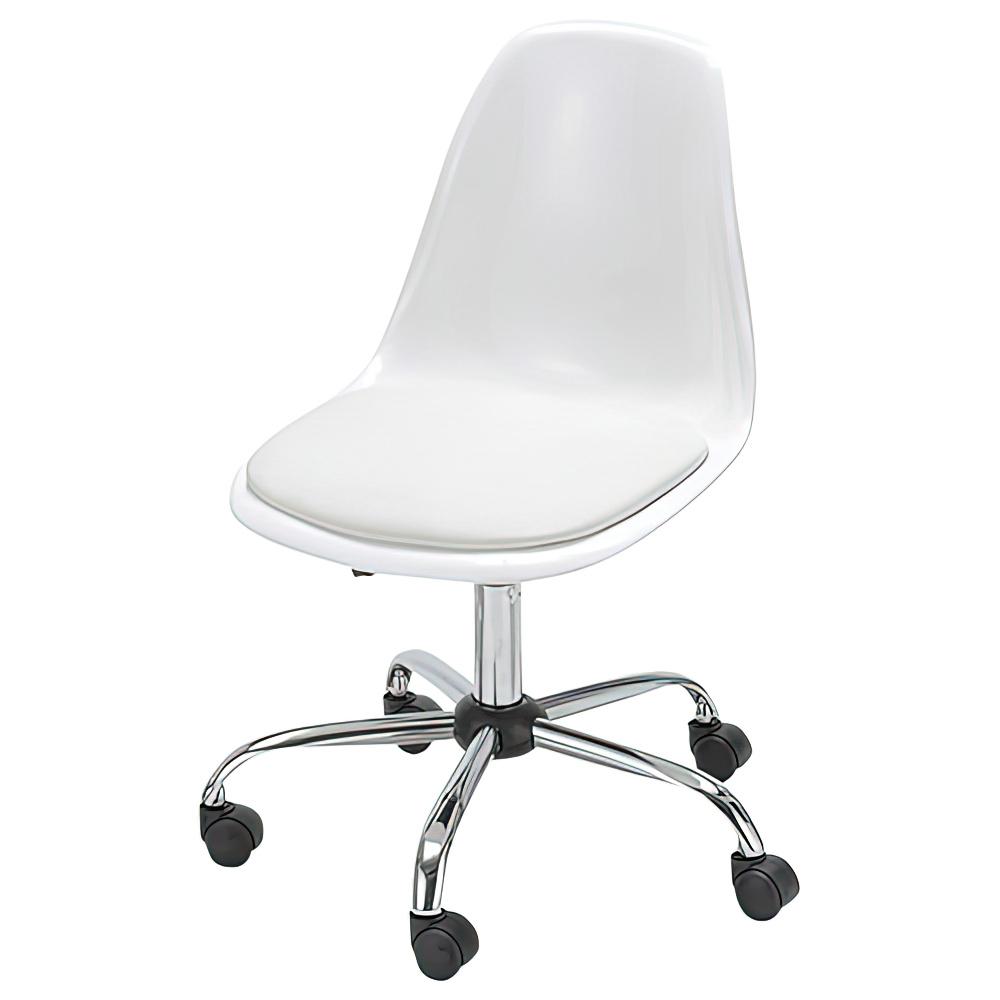 ブリッツ W580×D590×H785-875mm ホワイト デスクチェア 事務椅子 オフィスチェア OAチェア ミーティングチェア オフィス家具