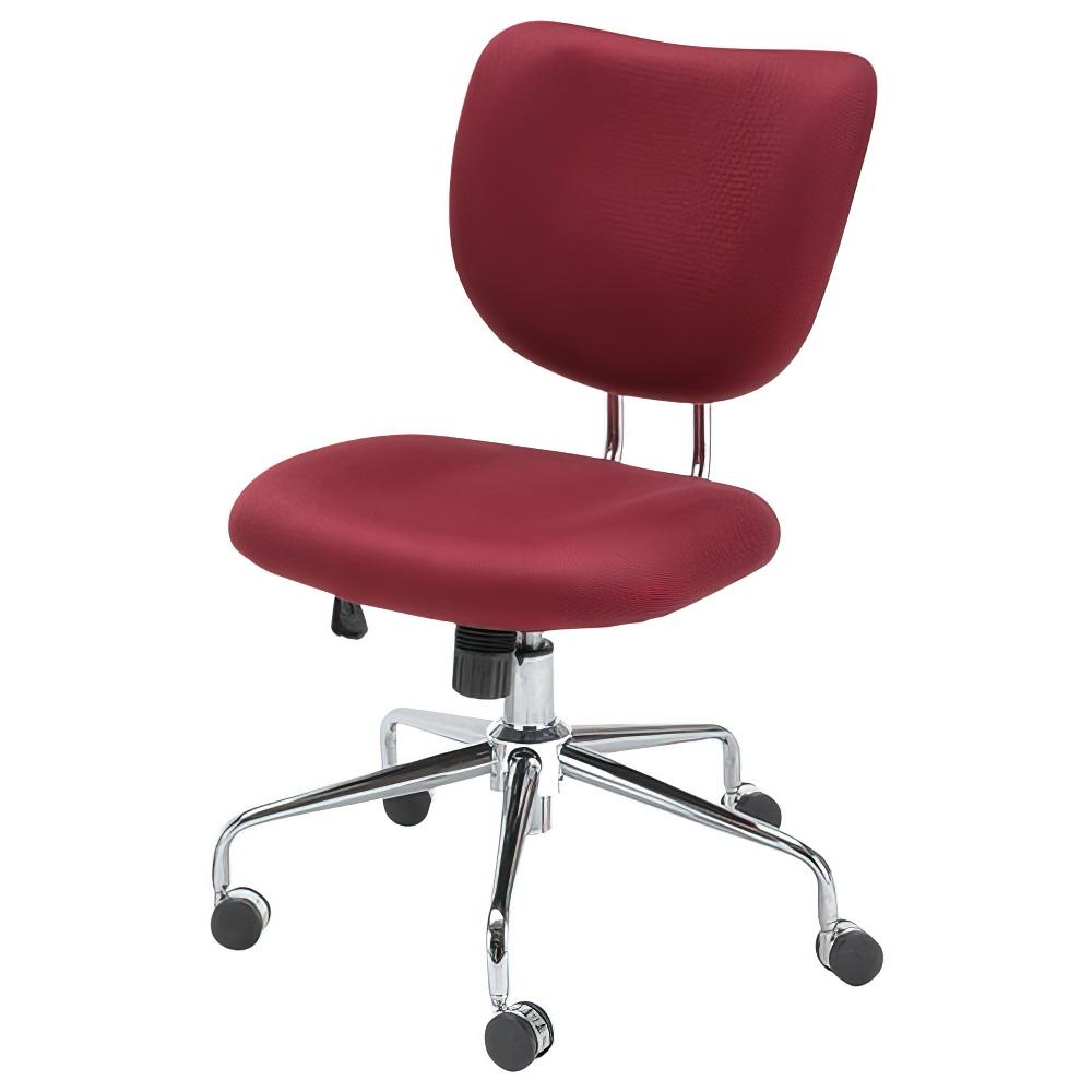 キュラーノ W590×D625×H820-890mm ワインレッド デスクチェア 事務椅子 オフィスチェア OAチェアデザインチェア オフィス家具