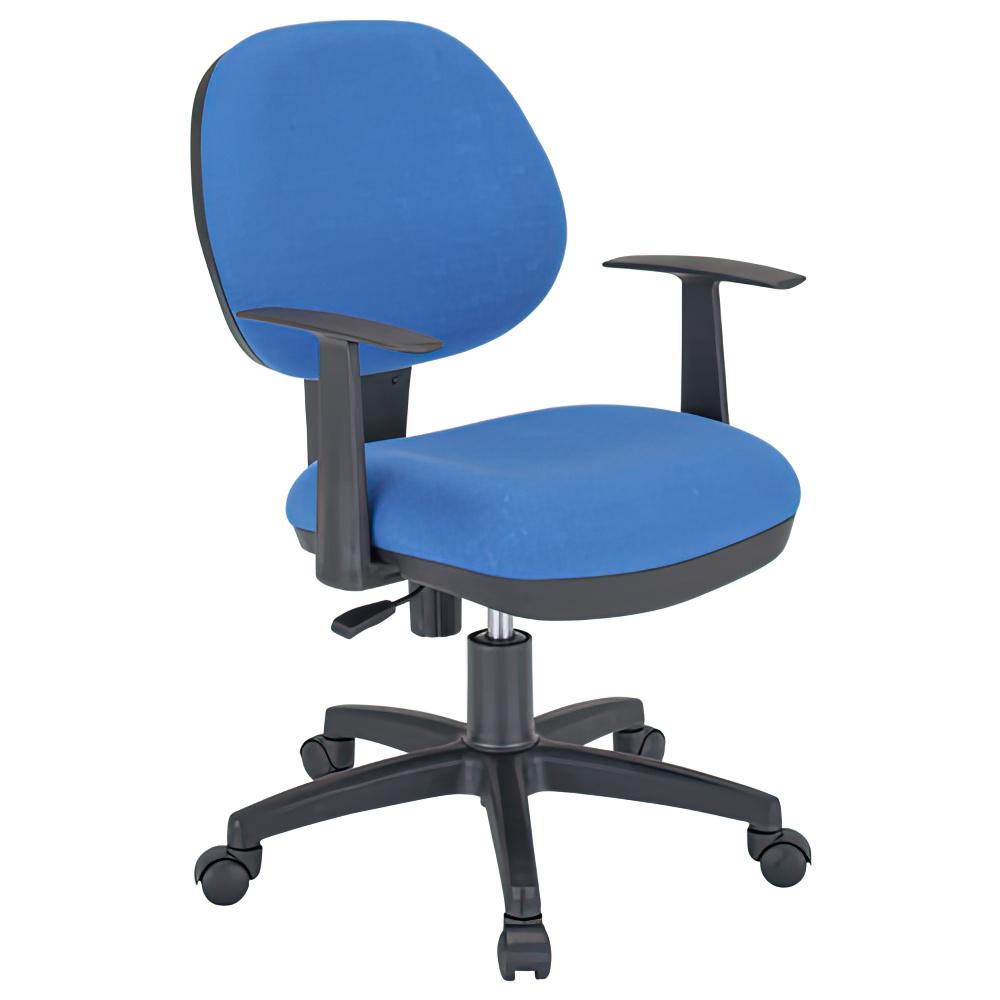 オフィス用ビジネスチェアNAM W475 D570 H800-885  ブルー