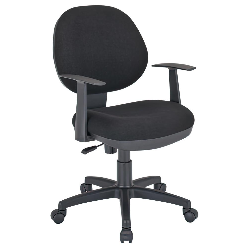 オフィス用ビジネスチェアNAM W475 D570 H800-885  ブラック