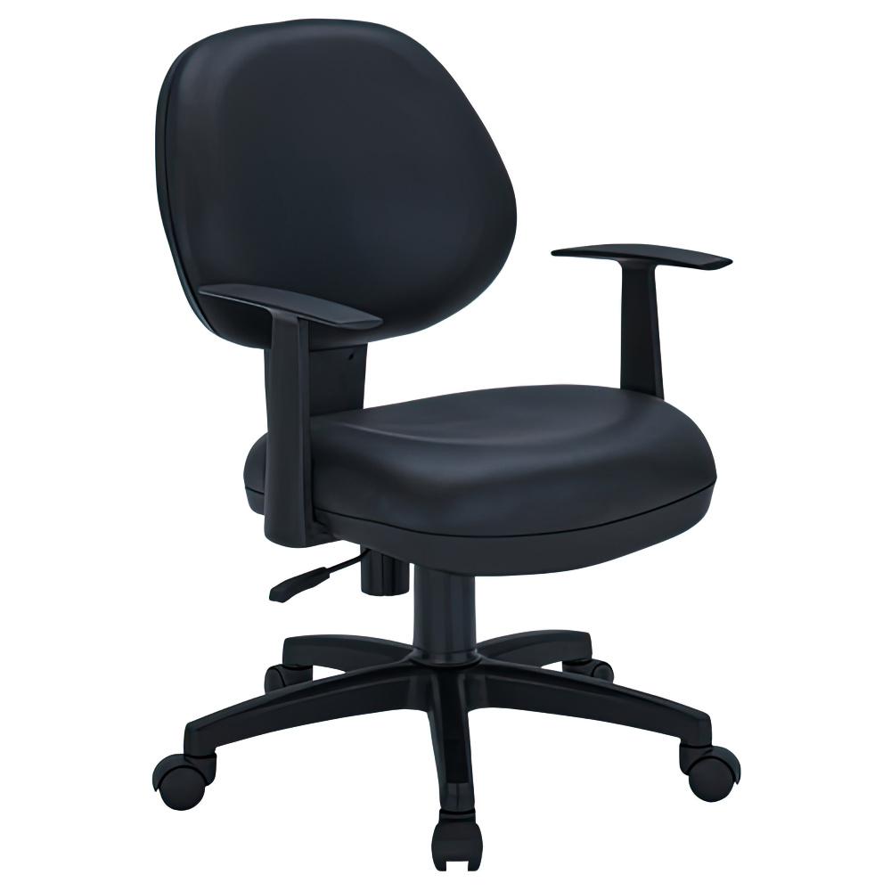 ニューアミューズ1000 W565×D610×H810-890mm 肘付き ブラック PUレザー デスクチェア OAチェア 事務椅子 オフィス家具