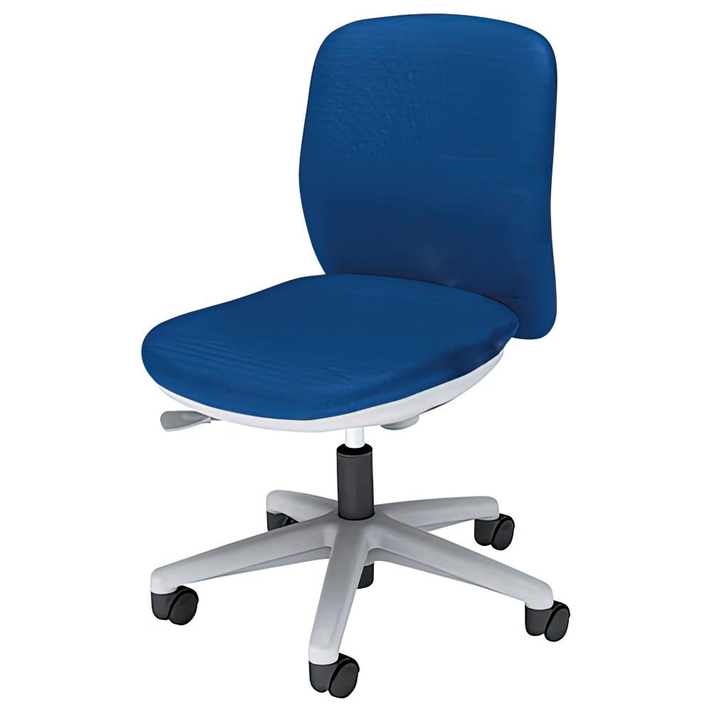 エニーザチェア W563×D535×H795-890mm オフィスチェア 事務椅子 肘無し ブルー デスクチェア OAチェア 内田洋行 オフィス家具