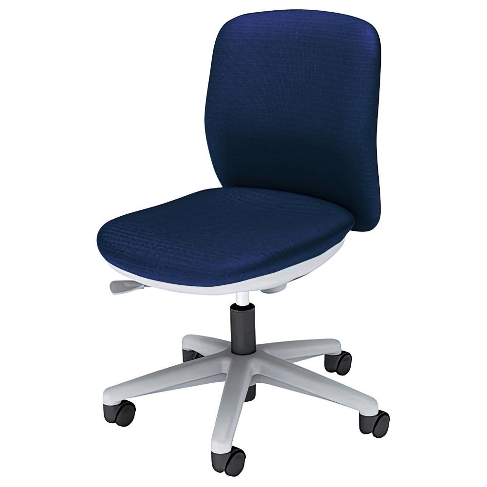 エニーザチェア W563×D535×H795-890mm オフィスチェア 事務椅子 肘無し ダークブルー デスクチェア OAチェア 内田洋行 オフィス家具