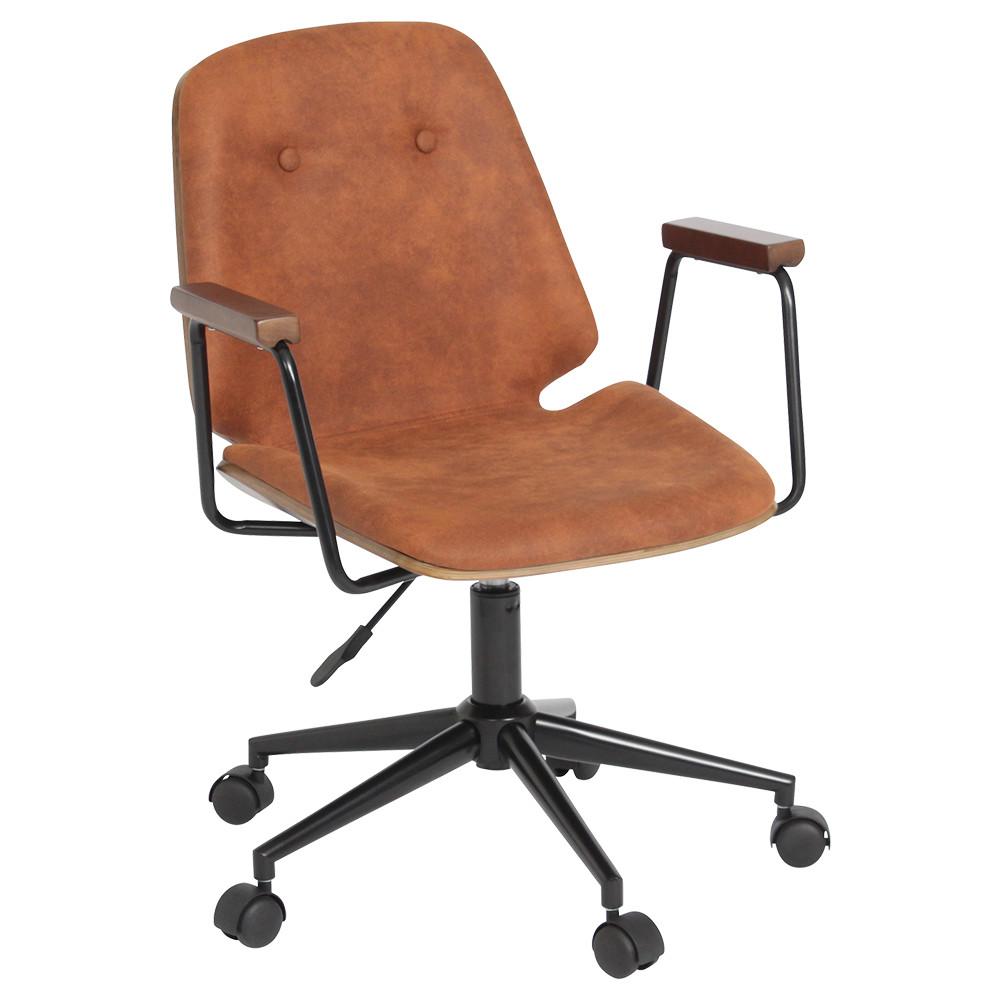 ブロンコ W580×D570×H790-860mm デスクチェア 事務椅子 木製 パソコンチェア オフィスチェア レトロ オフィス家具