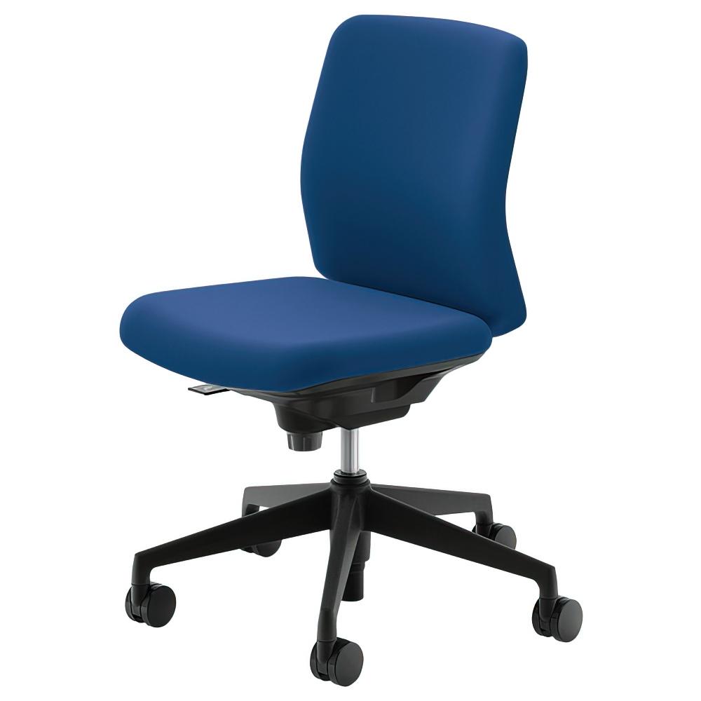 カリッサチェア メッシュタイプ W647×D548×H853-943mm オフィスチェア 事務椅子 肘無し ブルー デスクチェア OAチェア 内田洋行 オフィス家具