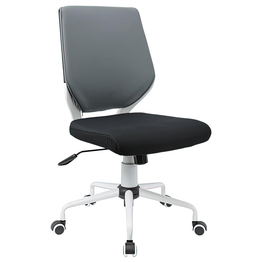 チェンジ W495×D480×H900-975mm 背面カバー着脱 オフィスチェア 事務椅子 肘無し ホワイト グレーカバー デスクチェア OAチェア オフィス家具