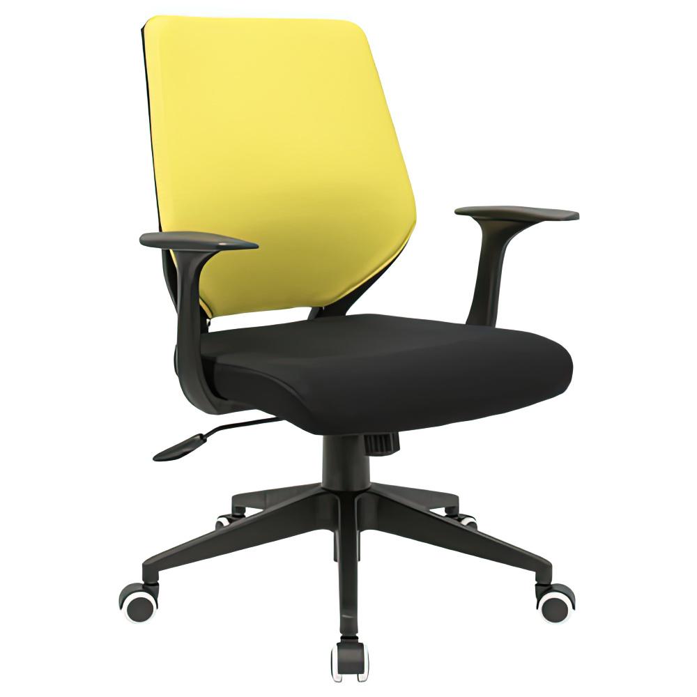 オフィス用ビジネスチェアCN W495 D560 H880-955/H845-910  イエロー