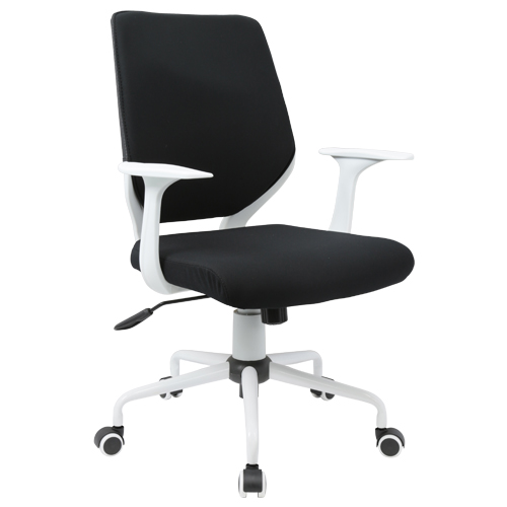 チェンジ W495×D480×H900-975mm 背面カバー着脱 オフィスチェア 事務椅子 肘付き ホワイト ブラックカバー デスクチェア OAチェア オフィス家具