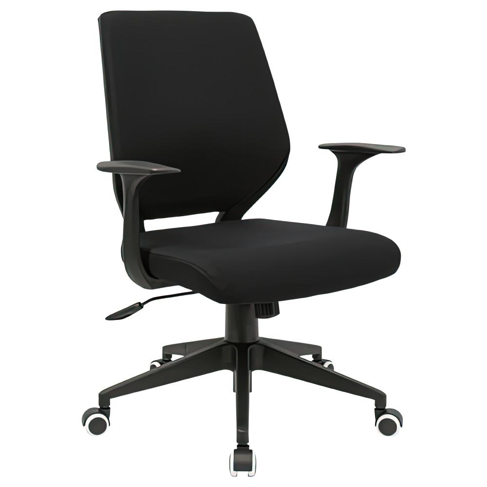 オフィス用ビジネスチェアCN W495 D560 H880-955/H845-910  ブラック