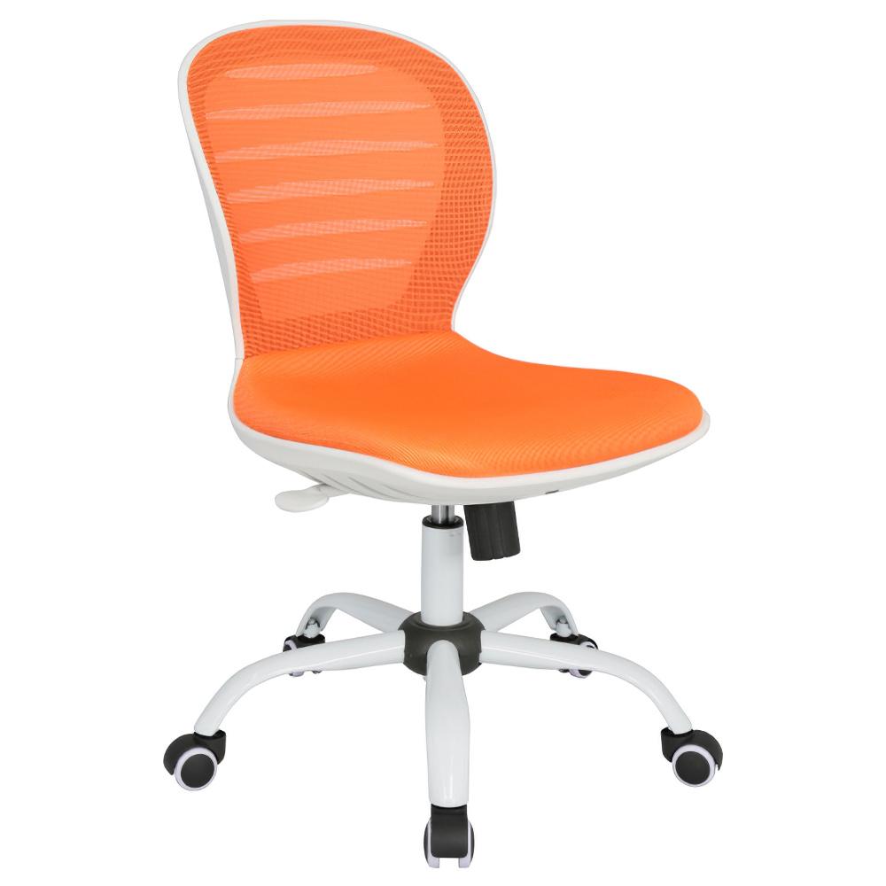 シフォン W480×D585×H850-950mm 背:オレンジ×座:オレンジ 肘無し メッシュチェア オフィスチェア 事務椅子 オフィス家具