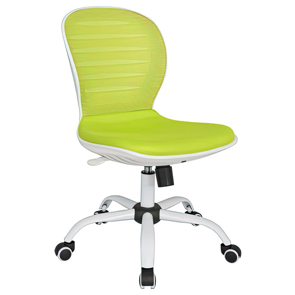 シフォン W480×D585×H850-950mm 背:グリーン×座:グリーン 肘無し メッシュチェア オフィスチェア 事務椅子 オフィス家具