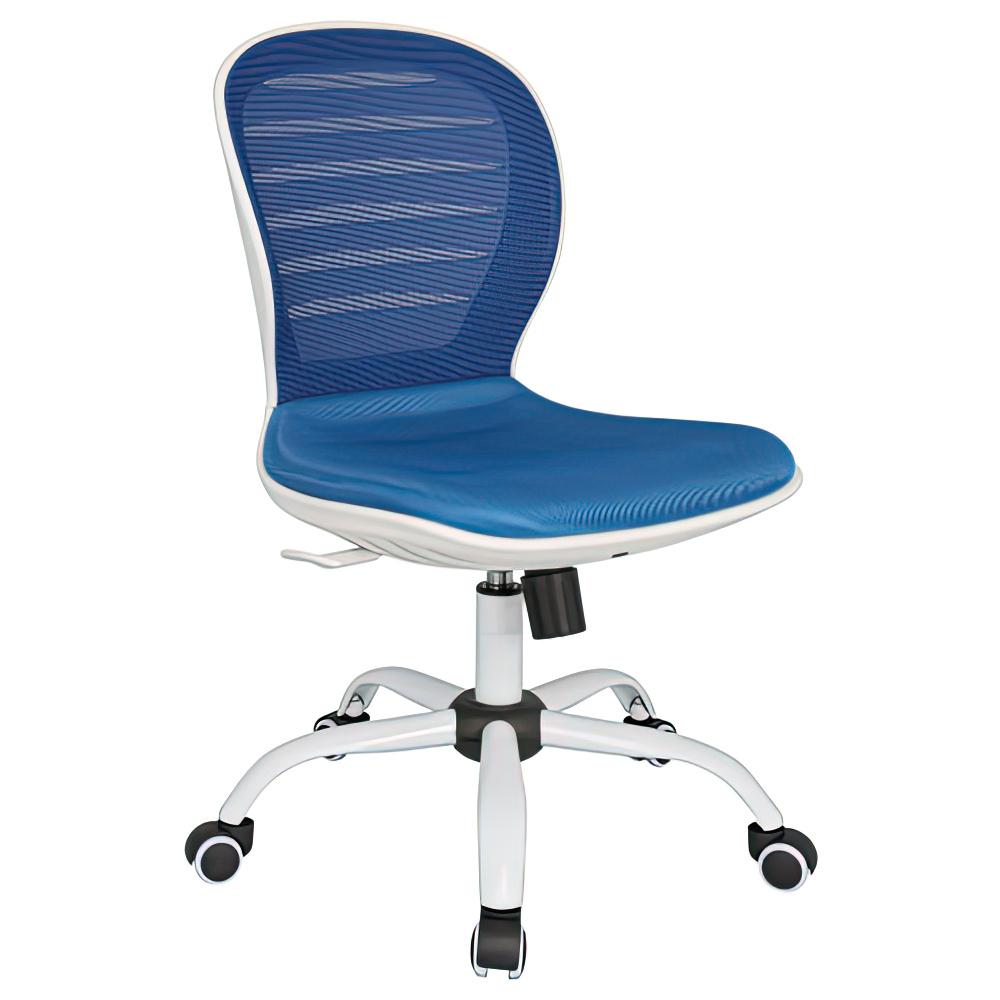 オフィス用メッシュチェアCF W480 D585 H850-950  ブルー