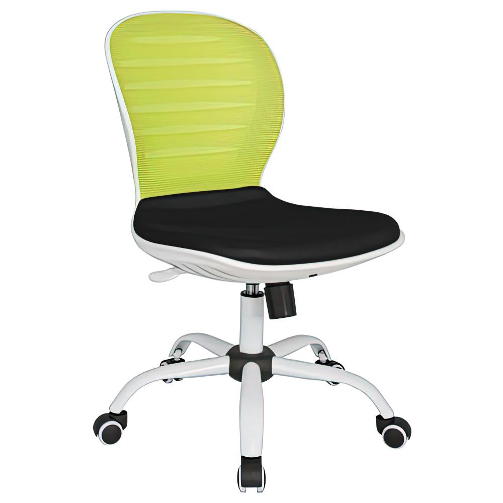シフォン W480×D585×H850-950mm 背:グリーン×座:ブラック 肘無し メッシュチェア オフィスチェア 事務椅子 オフィス家具