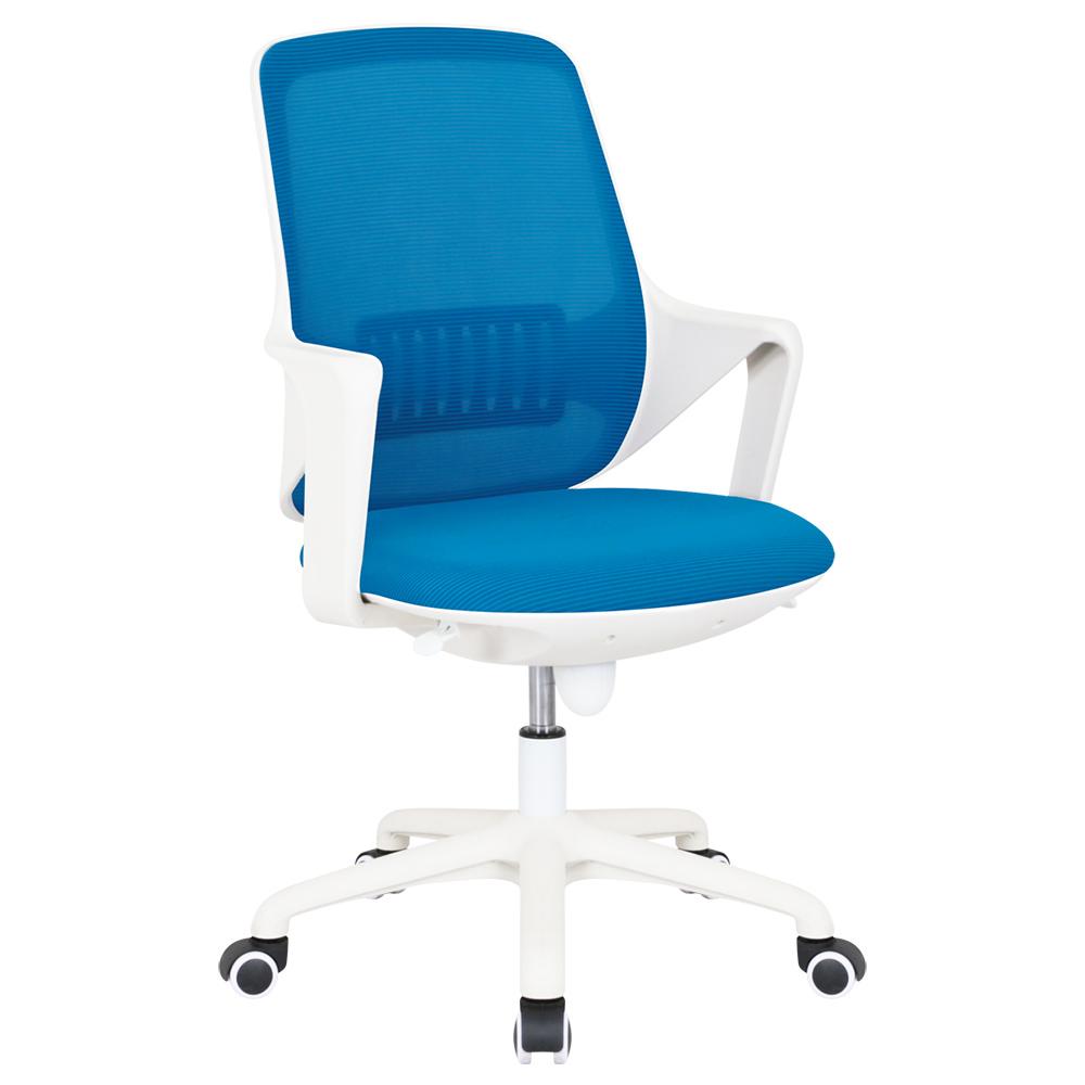 カグクロ ビジネスチェアCTW メッシュタイプ W565 D550 H905-1000 ブルー チェア ビジネスチェア メッシュ オフィス家具 オフィスチェア デザイン オレンジ ウレ