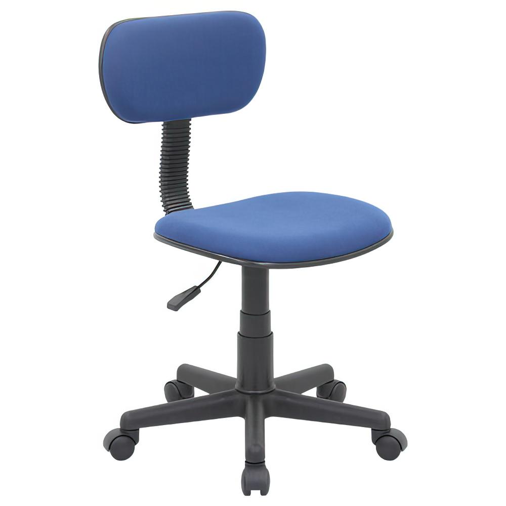 ニューエコノミーチェア W410×D505×H745-860mm オフィスチェア 事務椅子 肘無し ブルー デスクチェア OAチェア オフィス家具