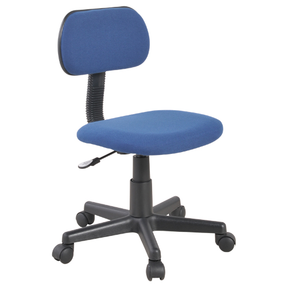 エコノミーチェア W420×D500×H750-850mm オフィスチェア 事務椅子 肘無し ブルー デスクチェア OAチェア オフィス家具 アウトレット