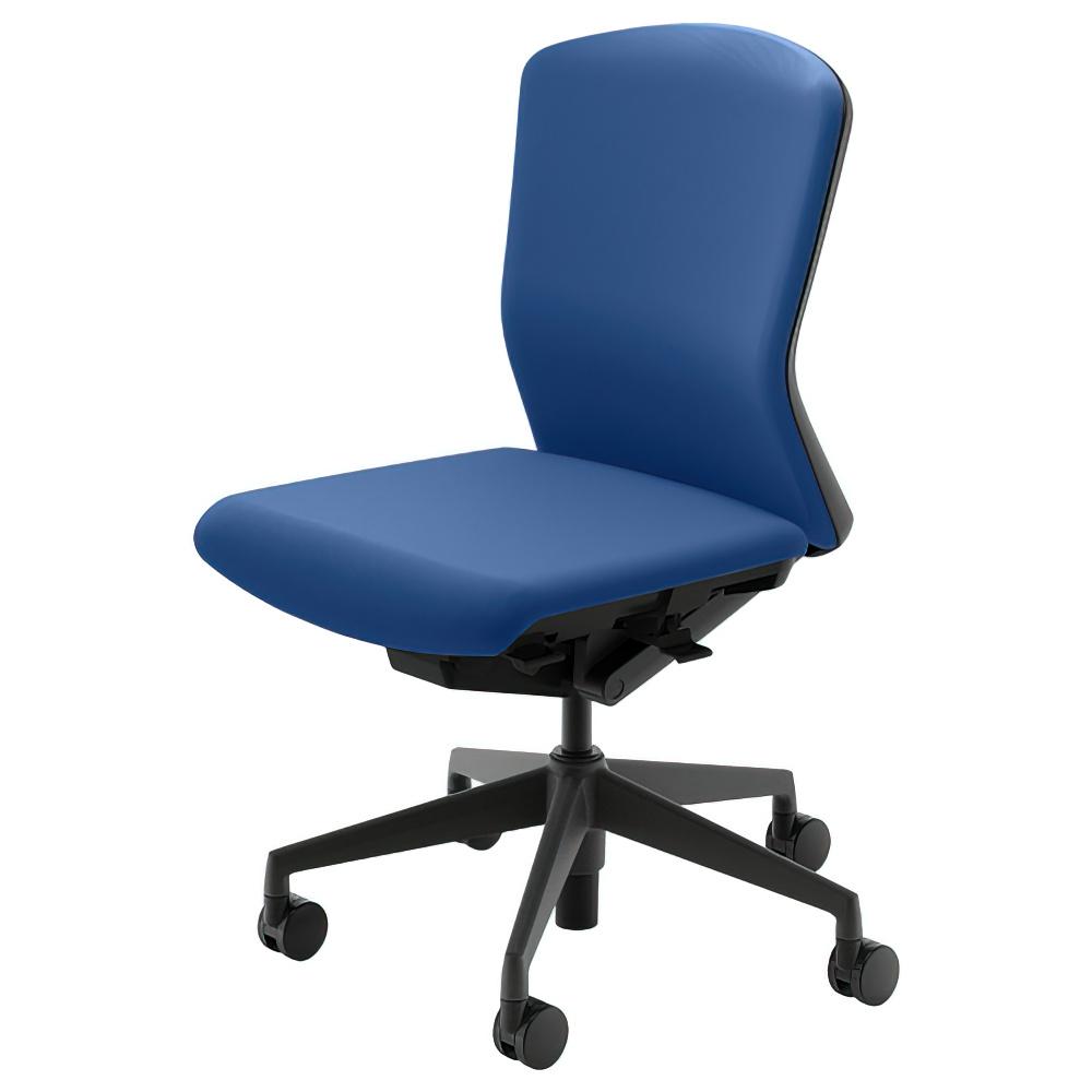 エルフィチェア 樹脂バックタイプ W647×D557-607×H890-980mm オフィスチェア 事務椅子 肘無し マリンブルー デスクチェア OAチェア 内田洋行 オフィス家具