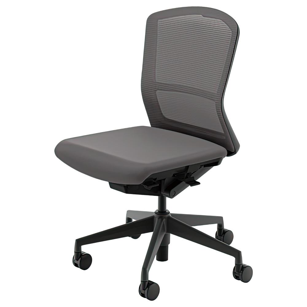 エルフィチェア メッシュタイプ W647×D557-607×H880-970mm オフィスチェア 事務椅子 肘無し ミディアムグレイ デスクチェア OAチェア 内田洋行 オフィス家具