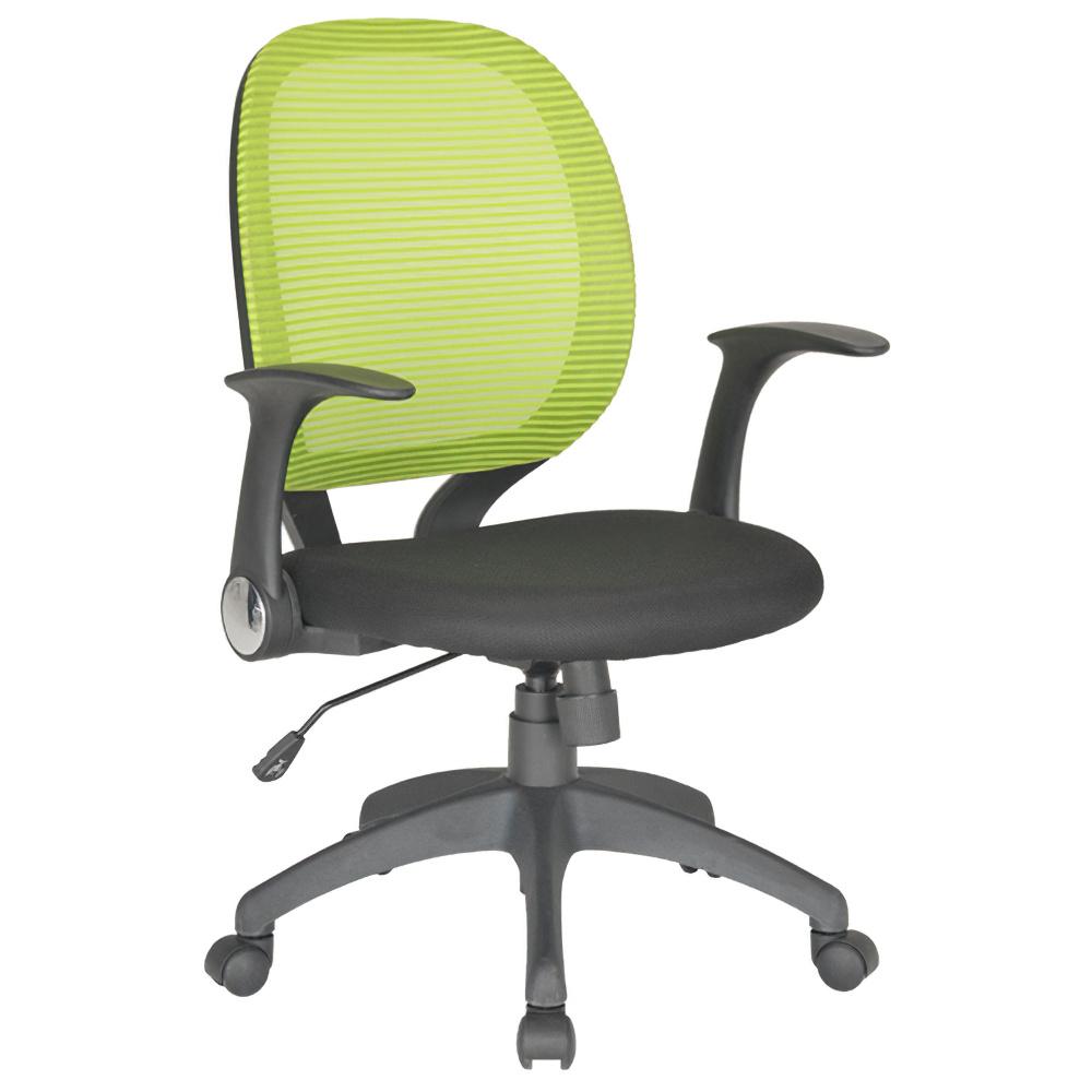 オフィス用メッシュチェアFA W660 D570 H965-1040  イエローグリーン