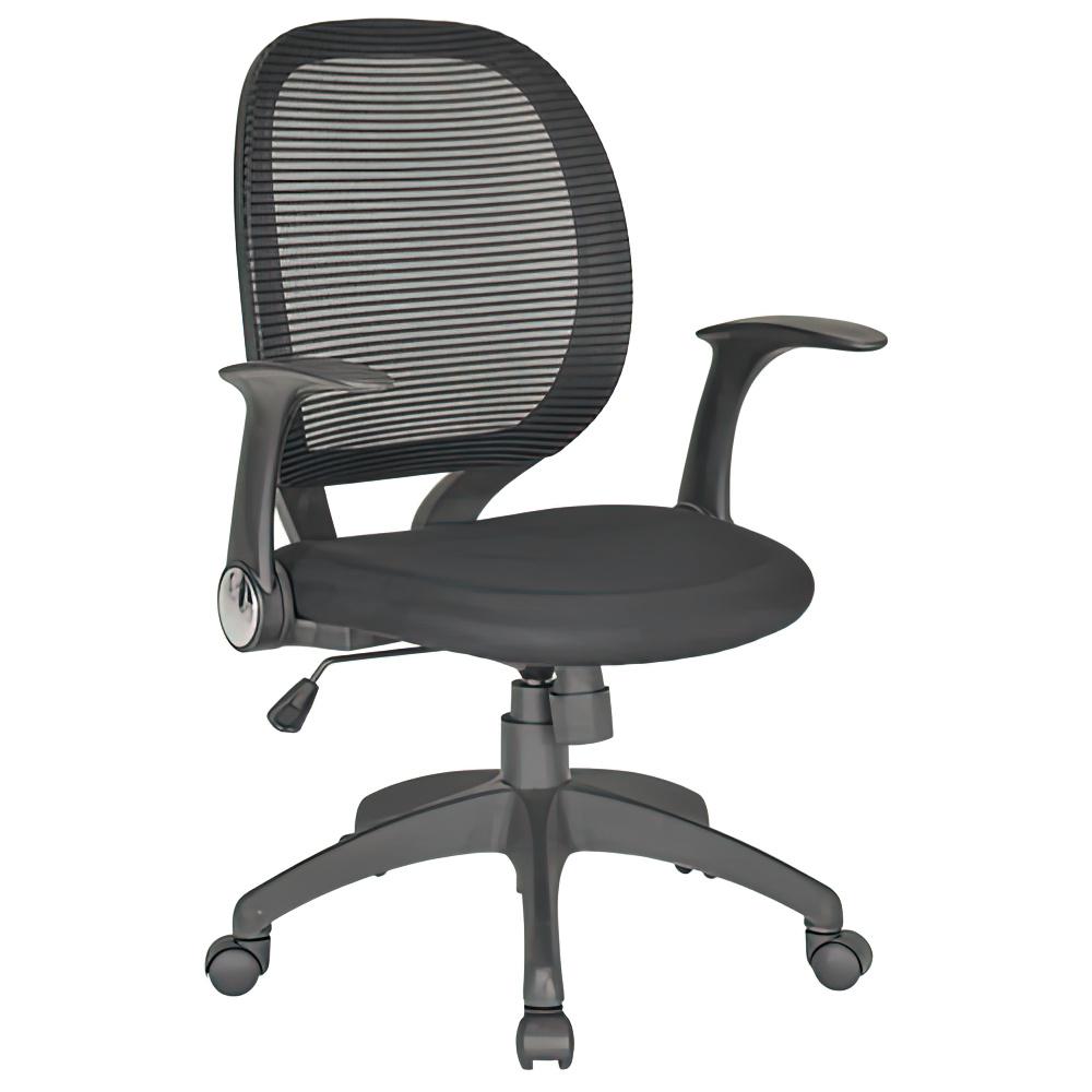 オフィス用メッシュチェアFA W660 D570 H965-1040  ブラック