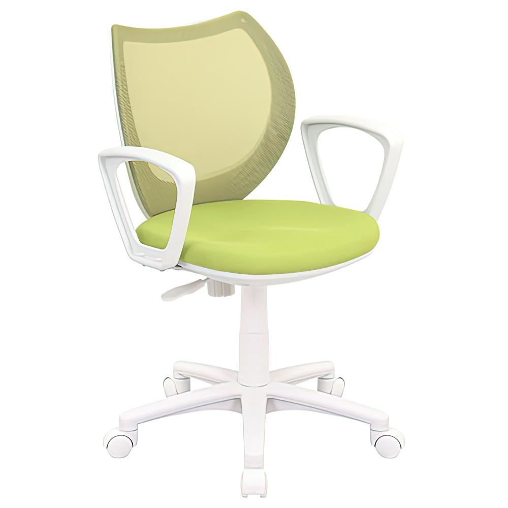フローラル W558×D570×H760-851mm 肘付き グリーン オフィスチェア 事務椅子 デスクチェア OAチェア コンパクト オフィス家具
