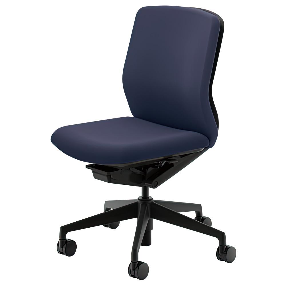 クレネチェア W647×D591×H857-957 オフィスチェア 事務椅子 肘無し ダークブルー デスクチェア OAチェア 内田洋行 オフィス家具