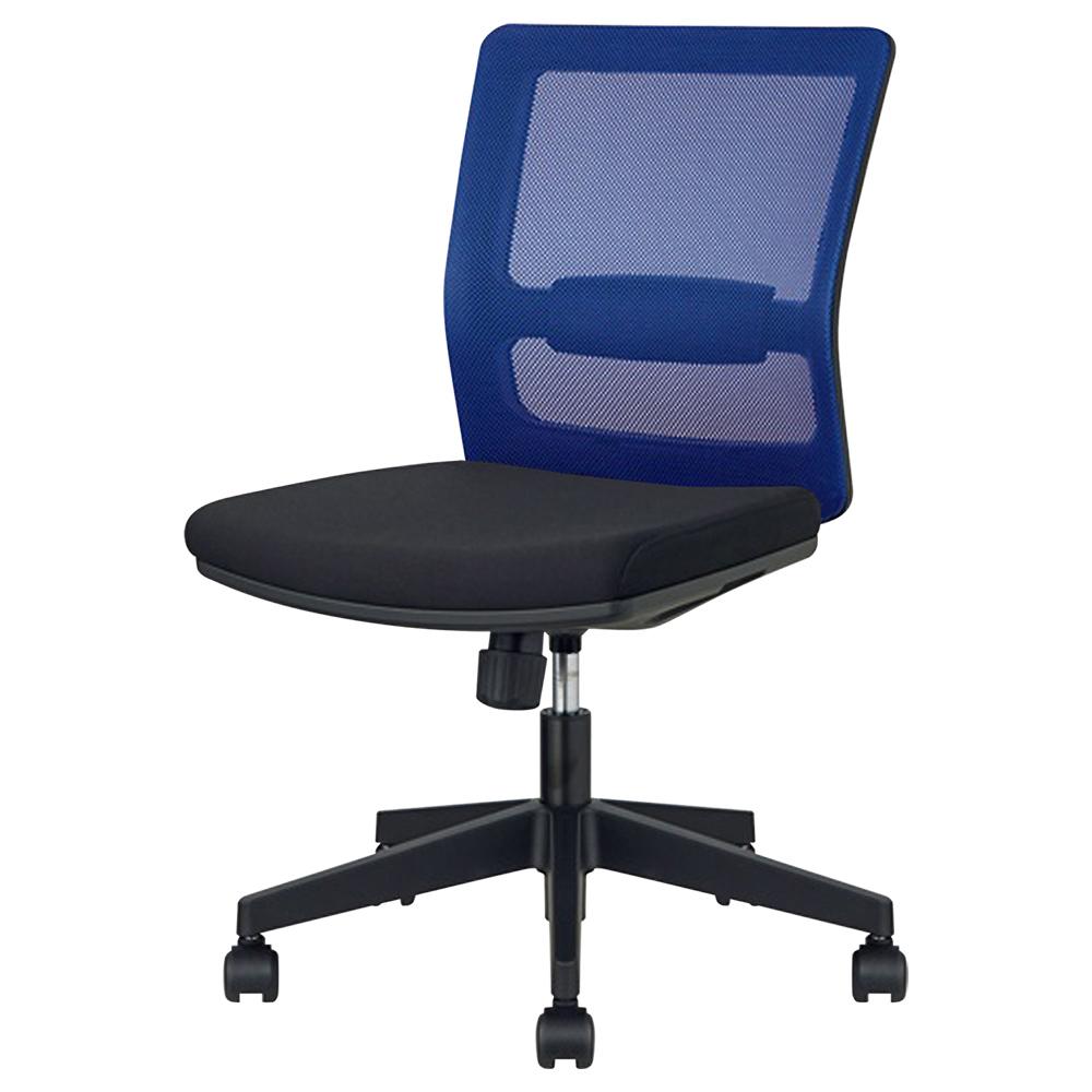 レオ オフィスチェア1700 W610 D585 H855-945 ブルー チェア ビジネスチェア メッシュ オフィス家具 オフィスチェア デスク メッシュ シェル リラックス ポリエ