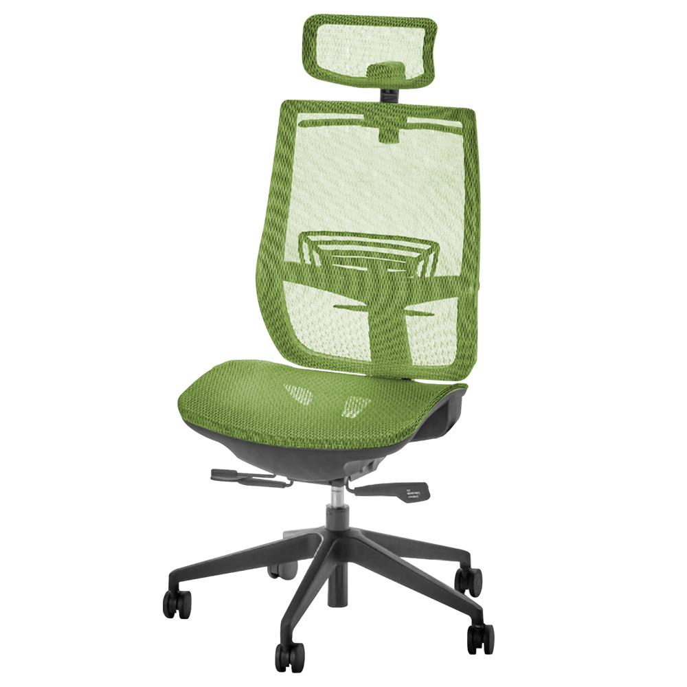 オフィス用レオ メッシュチェア1900 W657 D645-700 H995-1085  グリーン