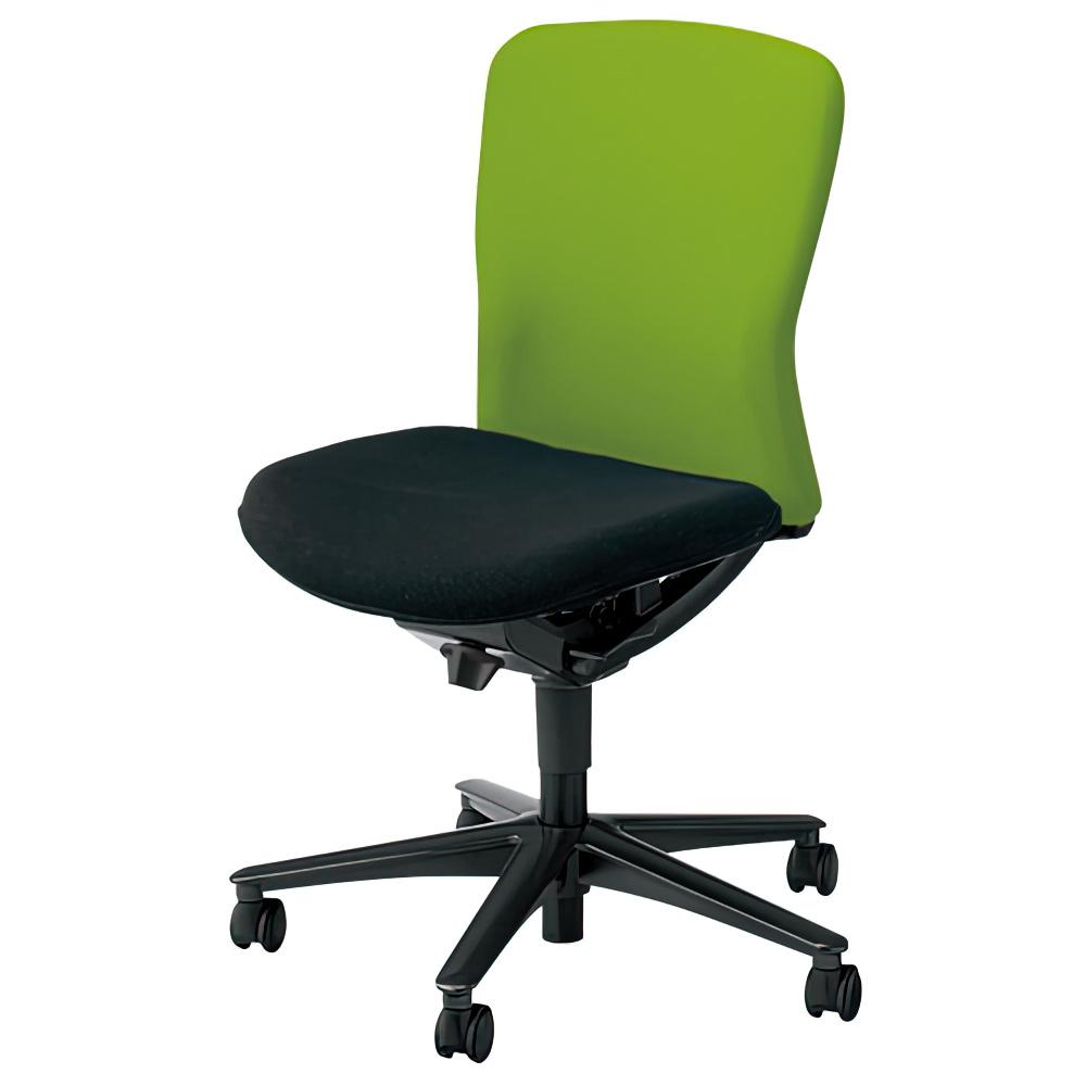 ルディオチェア W670×D536×H819-923mm オフィスチェア 事務椅子 肘無し クリアグリーン デスクチェア OAチェア 内田洋行 オフィス家具